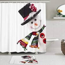 lisniany duschvorhang badezimmermatten set feiertag