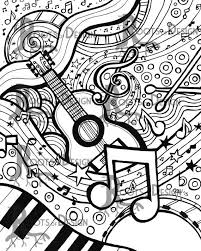 Pin Drawn Music Notes Coloring Page 14