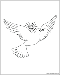 Dove Coloring Pages Page Cameron