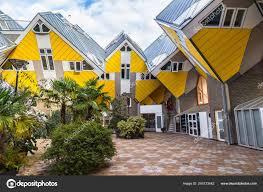 100 Cubic House S Dutch Kubuswoningen Rotterdam Stock Editorial Photo