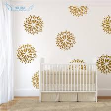 Gold Wall Decor Beauteous Flowers Decals Vinyl Sticker Kids Bedroom Art Design