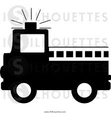 Firetruck Clipart Silhouette ~ Frames ~ Illustrations ~ HD Images ...