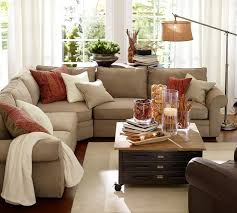 Brown Couch Living Room Colors by Pearce 3 Piece L Shaped Sectional With Wedge Everydaysuede