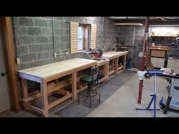 Plans For Building A Wood Workbench by How To Build A Professional Style Workbench Youtube