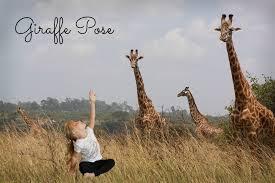 Actimel Giraffe Pose