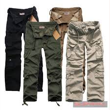 new mens army cargo loose fit designer military cotton pants size