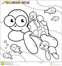 Royalty Free Vector Download Coloring Book Sea Turtles Underwater
