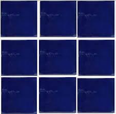 4 25 x4 25 brilliant cobalt talavera blue mexican tile design 9
