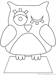 E Owl Colouring Pages Page 2
