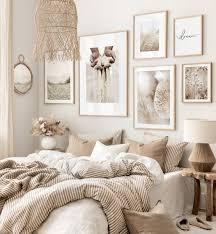 beruhigende beigetöne wanddeko achtsamkeitsposter schlafzimmer beige