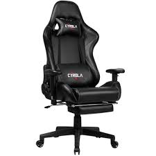 CYROLA Gaming Chair With Footrest Heavy Duty High Back 90-180 Adjustable  360 Swivel Gamer Chair For Adults Ergonomic Design Computer Office Chair  All ... Akracing Premium Masters Series Chairs Atom Black Edition Pc Gaming Office Chair Abrocom Fniture Emperor Computer Cow Print Desk Thunderx3 Tgc25 Blackred Brand New Tesoro Gaming Break The Rules Embrace Innovation Merax Highback Ergonomic Racing Red Dxracer Official Website Support Manuals X Rocker Ultimate Review Of Best In 2019 Wiredshopper Nzxt Vertagear Sl2000 Rev 2 With Footrest Moustache Titan 20 Amber