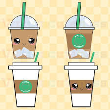 Coffee Cups Clip Art Espresso Clipart Iced By Virtualcuteness