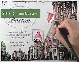 Calendraw Boston Color Your Way To Organization Coloring Book Calendar