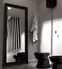 retro bad spiegel 70 x 180 cm mit holzrahmen