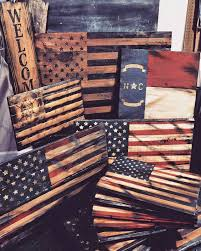 Wood Signs Flags American Flag North Carolina Spartan Art