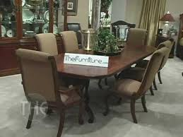 dining room set with double pedestal table bob mackie home
