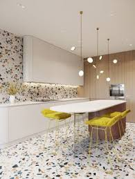 Terrazzo Is The Star Of Show In This Great Kitchen Keeping Units Simple Really Gives A Big Impact
