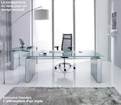 meuble de bureau design meubles de direction bureau design contemporain plateau verre ou