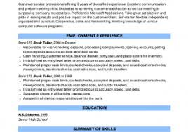 Universal Banker Resume From Example Bank Teller