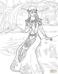 Zelda Coloring Pages Princess Page Free Printable Drawing