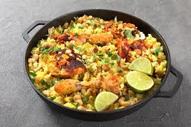 biryani indian cuisine chicken biryani indian cuisine top view stock photo image of