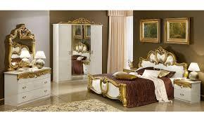 klassisches schlafzimmer komplett beige gold hochglanz