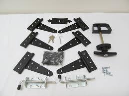 shed door hardware kit 1 t hinges 5 t handle barrel bolts