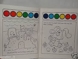 Winsome Design Paint With Water Coloring Book NEW BLUES CLUES PAINT AND WATER COLORING BOOK A
