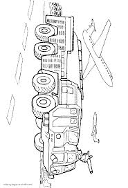 Airport Fire Truck Coloring Page