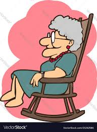 Granny In A Rocking Chair Cartoons
