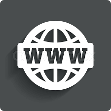 sign icon World wide web symbol Globe Gray flat button with