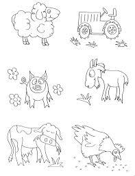 Farm Animals Coloring Pages Preschool