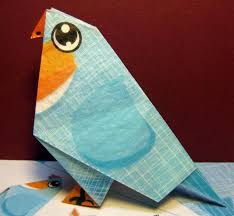 The Blue Bird Origami Papercraft For Kids