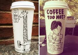 Starbucks Coffee Cup Cartoons 27 Pics