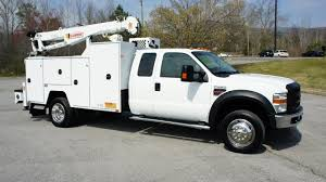 2008 FORD F-550 MECHANICS UTILITY SERVICE CRANE DIESEL TRUCK FOR ...