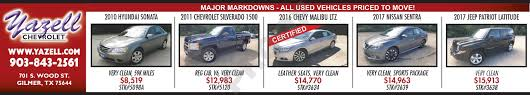 Yazell Chevrolet In Gilmer | Gladewater, Longview, And Kilgore, TX ... Preowned Dealership Longview Tx Used Cars Excel Super Gabriel Jordan Chevrolet Cadillac In Henderson Serving Tyler Trucks San Antonio Top Car Designs 2019 20 East Texas Truck Center 47 Exclusive Tx Autostrach Honda Dealer New Certified Dow Autoplex Mineola Buick Gmc Source Quirky For Sale At Peters All Star Ford Kilgore Kia Shreveport La Orr Of Automotive Texarkana Autosmart