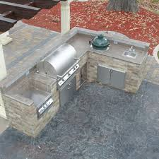 Contemporary Ideas L Shaped Outdoor Kitchen Inspiring