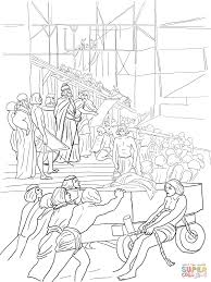 King Solomon Builds The Temple Coloring Page
