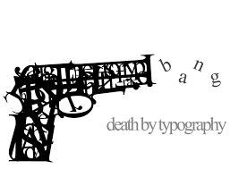Gun Typography HD Wallpaper