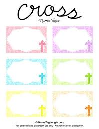 Mailbox Name Tag Free Printable Cross Tags The Template Can Also Be Used For Creating Items
