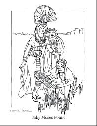 Moses Burning Bush Coloring Pages Printable Page Free Great Baby River