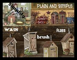 outhouse country bath room home decor rustic primitive sign