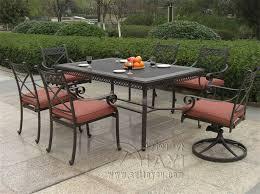 Cast Aluminum Patio Sets by Decoration Patio Furniture 7 Piece Set With Cbm Outdoor Cast