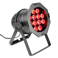 Cameo 12 x 10W 6 in 1 RGBWA UV LED Par Can Light Black at
