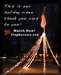 Flagpole Christmas Tree by Diy How To Make A Holiday Flagpole With Lights Flagrunners