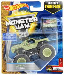 Hot Wheels Monster Jam 25: Soldier Fortune (Team Flag) | Toy | At ... Team Hot Wheels Hotwheels 2016 Hot Wheels Monster Jam Team Hotwheels Mud Treads 164 Review 124 Free Shipping Ebay 2017 Firestorm World Finals Son Uva Digger And Take East Rutherford Buy Scale Truck With Stunt Ramp Image 2012 Mcdonalds Happy Meal Hw Yellow Hot Wheels Monster Team Firestorm 25 Years Super Fun Blog 2 Demolition 2015 Jam Truck Error Nu Amazoncom Rc Jump Toys Games