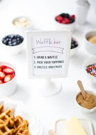 Waffle Bar With Free Printable   Waffle Bar, Waffles And Free ... How To Throw A Waffle Party Wholefully Protein Bar Bar Waffles And Waffles A Very Merry Holiday Citrus Punch Recipe Make Waffle Sweetphi Cake Mix Plus Planning Tips Mom Loves Baking The Best Toppings From Savory Sweet Taste Of Home Eggo Truckinspired Pbj Styleanthropy 6 The Best Toppings Recipe Food To Love Bridal Shower With Chinet Cut Crystal Giveaway Hvala Matcha Softserveice Blended Latte Frappe At Southern Gentleman Baby
