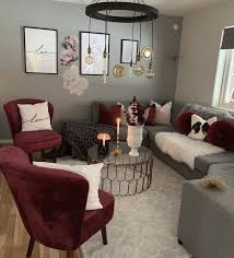 maroon grey and white living room grey living maroon room