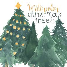 Christmas Tree Clipart Watercolor 5
