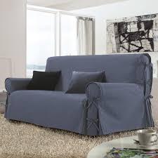 housse canape 3 place housse de canapé 3 places stella bleu housse de canapé eminza